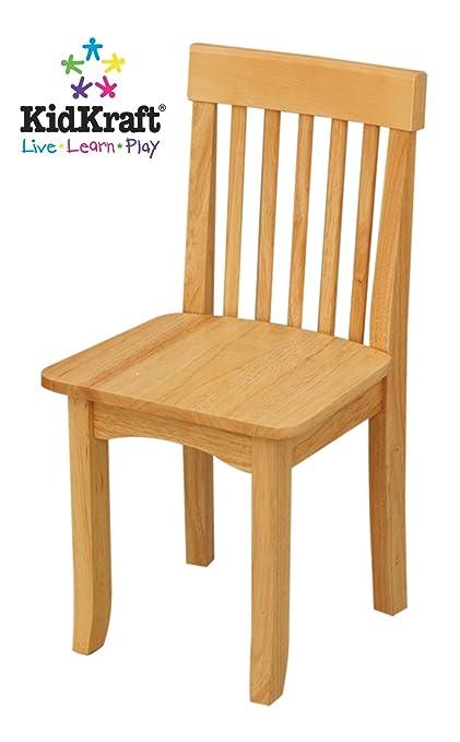 amazon com kidkraft avalon single chair for children natural