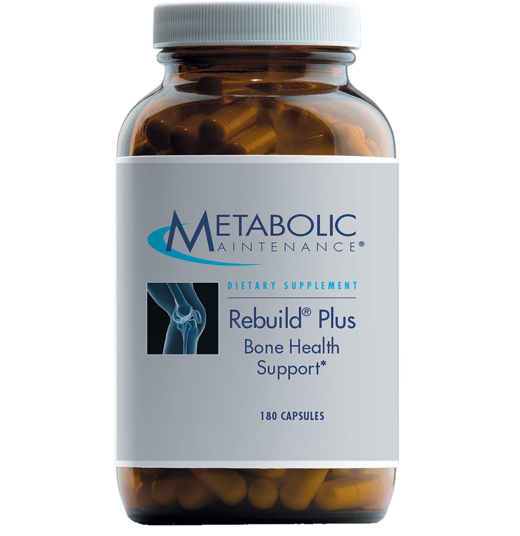 Metabolic Maintenance Rebuild Plus – Bone Support Formula Calcium Complex with Extra Vitamin D3, K2 Minerals 180 Capsules