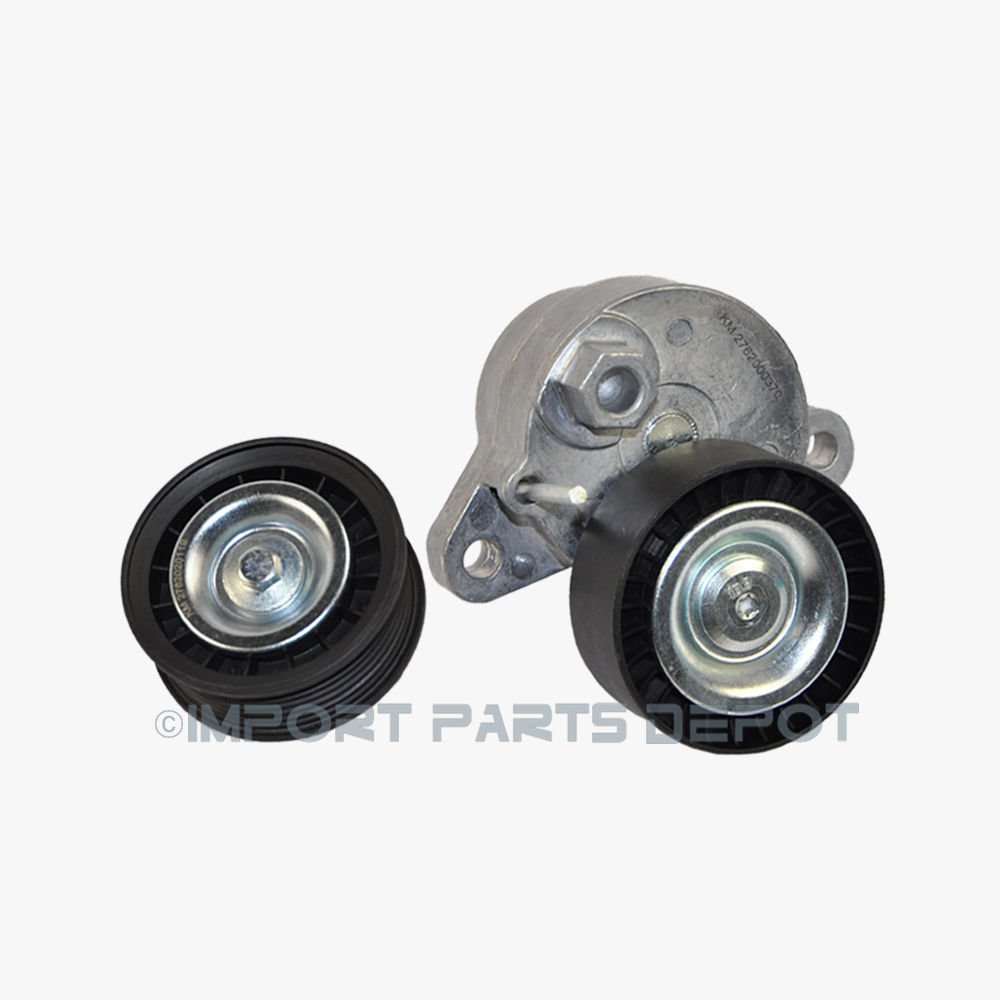 Belt Tensioner W/ Pulley + Idler Pulley for Mercedes C300 C350 C400 CLS400 C450 AMG E350 E400 GL450 GLE550e GLK350 ML350 ML400 R350 SL400 SLK350 Premium 2762000370 / 2762000170 New