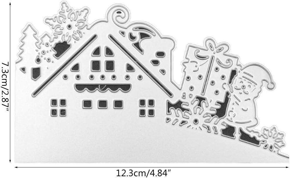 BYNNIX Christmas Santa Claus House Metal Cutting Dies Die Stencil for Paper CardDecor