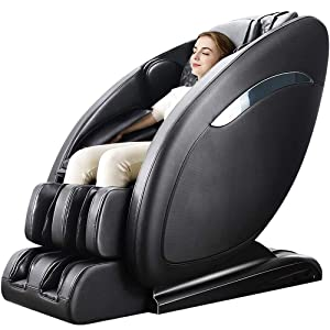 Lernonl Massage Chair Zero Gravity Full Body SL-Track, Shiatsu Massage Chair