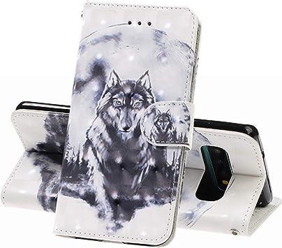 Opinión sobre XINYIYI Estuche para Samsung Galaxy S10(5G) Bookstyle Estuche Pintado Pintado PU Funda de Cuero Flip Flap Funda Protectora TPU Funda de Silicona para Samsung Galaxy S10(5G) -Lobo 03