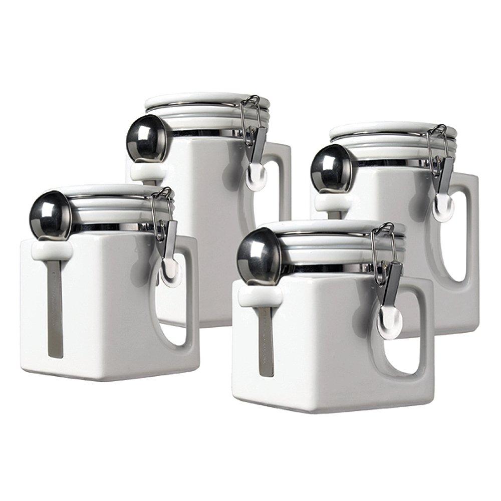 amazon com oggi ez grip handle 4 piece ceramic airtight canister