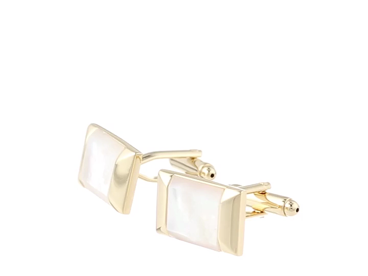 Stacy Adams Men's Cuff Link with Mop Stone, Gold, One Size by Stacy Adams (Image #3)