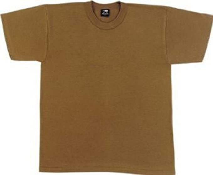 Amazon.com  Brown 100% Cotton USA Made T-Shirt 7848 Size 3XL  Sports ... ee918fe6c6b