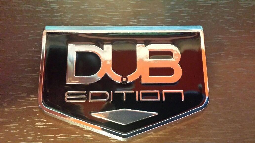TWO 3D DUB EDITION Universal Car Badge Emblem 3M Stick On Hood Fender Trunk 300