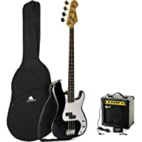 Redwood RB5 Electric Bass Guitar Pack/Redwood B15 Bass Amp Beginners Pack - Black