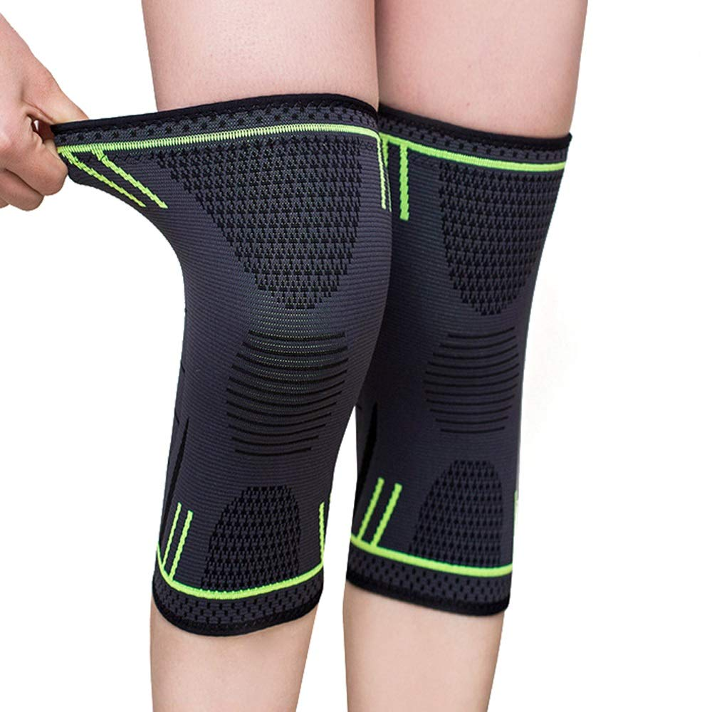 Breathable Non-Slip Silicone Sponge Shock Absorbing Knee Pads Support Brace M L