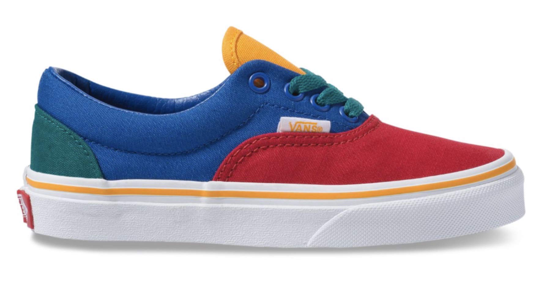 Vans Boy's Primary Block Era Kids Skate Shoes (11.5 M US Little Kid, Lapis Blue/True White)