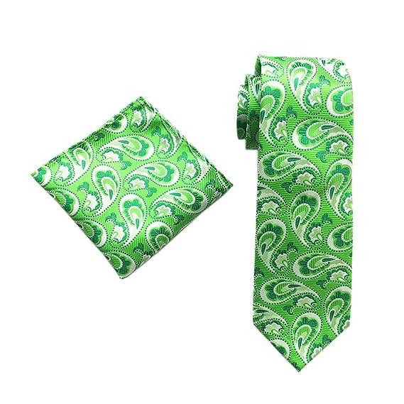 COMVIP Hombres 2pcs Paisley fiesta de la boda corbata y Pocket ...