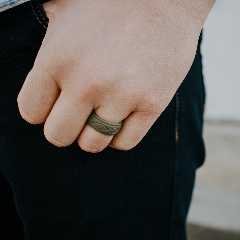 Enso Mens Infinity Silicone Ring, Obsidian Black 10 by Enso Rings (Image #4)