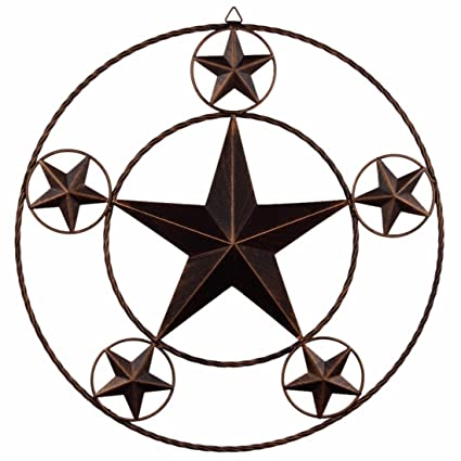20u0026quot; Primitive Metal Texas Star Wall Decor Rustic Hanging Kitchen Patio  Garden Yard Deocration
