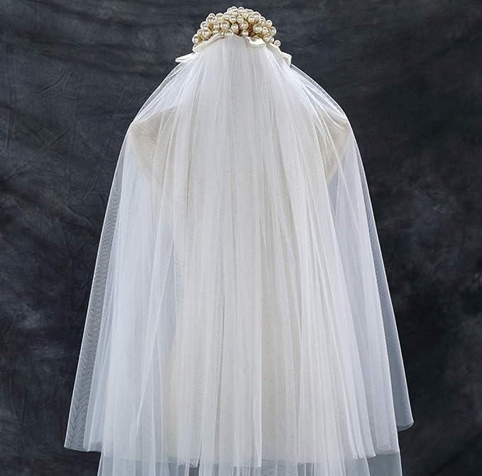 UMOOIN 2019Brautschleier 5M Single Schicht rot Bl/ütenbl/ätter Hochzeit Schleier Lange weich T/üll romantisch elegant Dom Hochzeit Braut Schleier Cremewei/ß