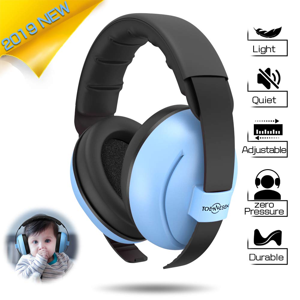 Toennesen Baby Ear Protection Earmuffs,Noise Reduction Headphones for Infant & Toddlers,Soft & Comfortable Baby Ear Protectors-Blue