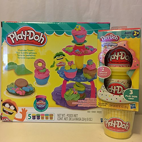 Play-Doh Cupcake Tower & Play-Doh Sweet Shoppe 3 Cans