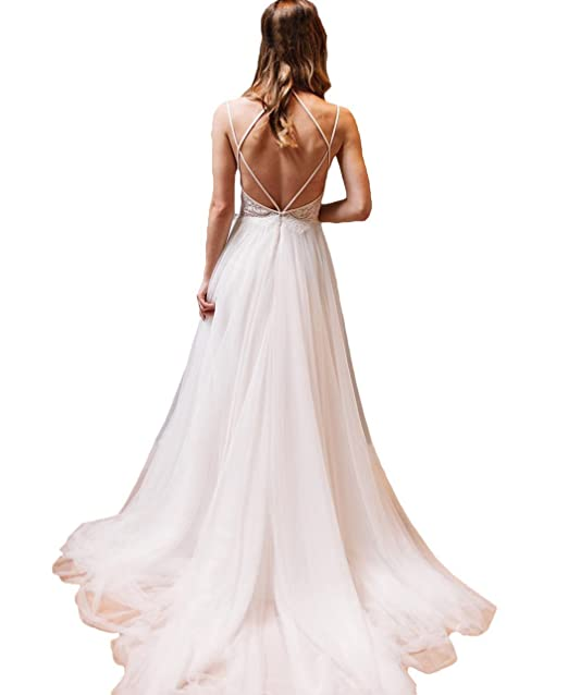 Butalways Women S Boho Wedding Dresses Long Lace Chiffon