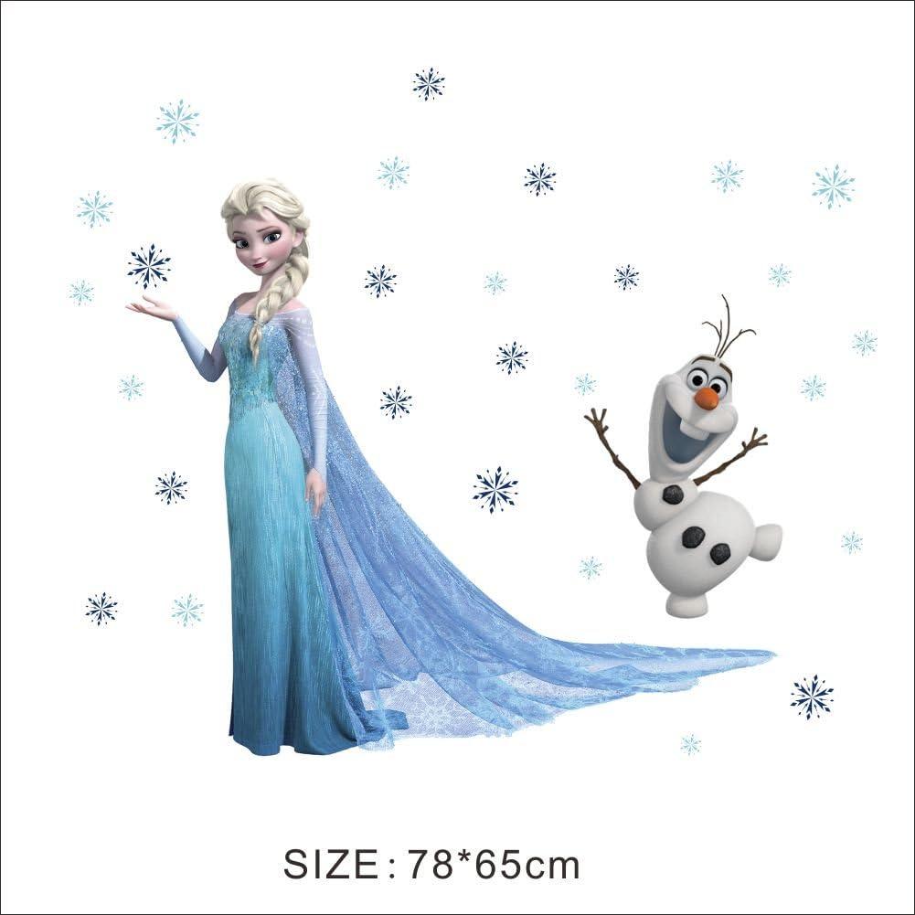 Frozen Elsa Dormitorio De Los Ni/ños Impermeable Pegatina De Pared Requisible