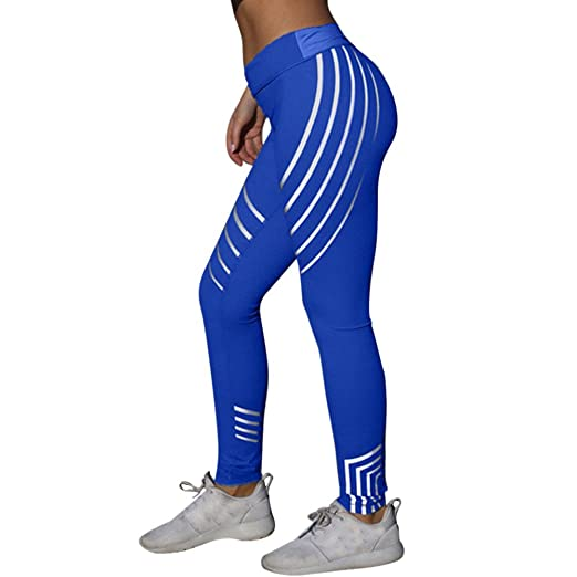 7570d80a2044 Yoga Pants for Women Wugeshangmao Ladies Laser Color High Waist Fitness  Leggings Running Sports Pants Trousers: Clothing