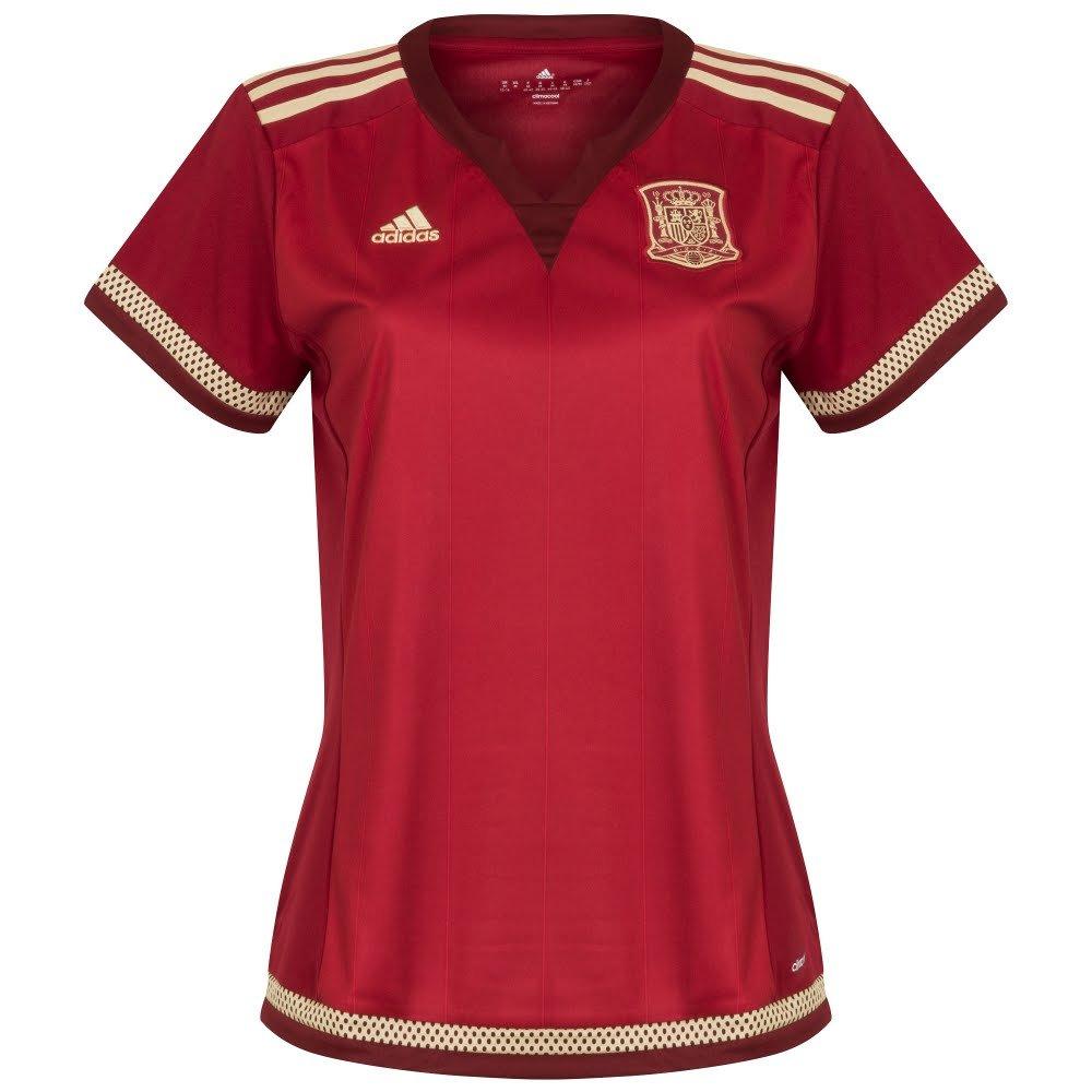 adidas FEF W H JSY WC T-Shirt pour Femme Rouge/Blanc/Or