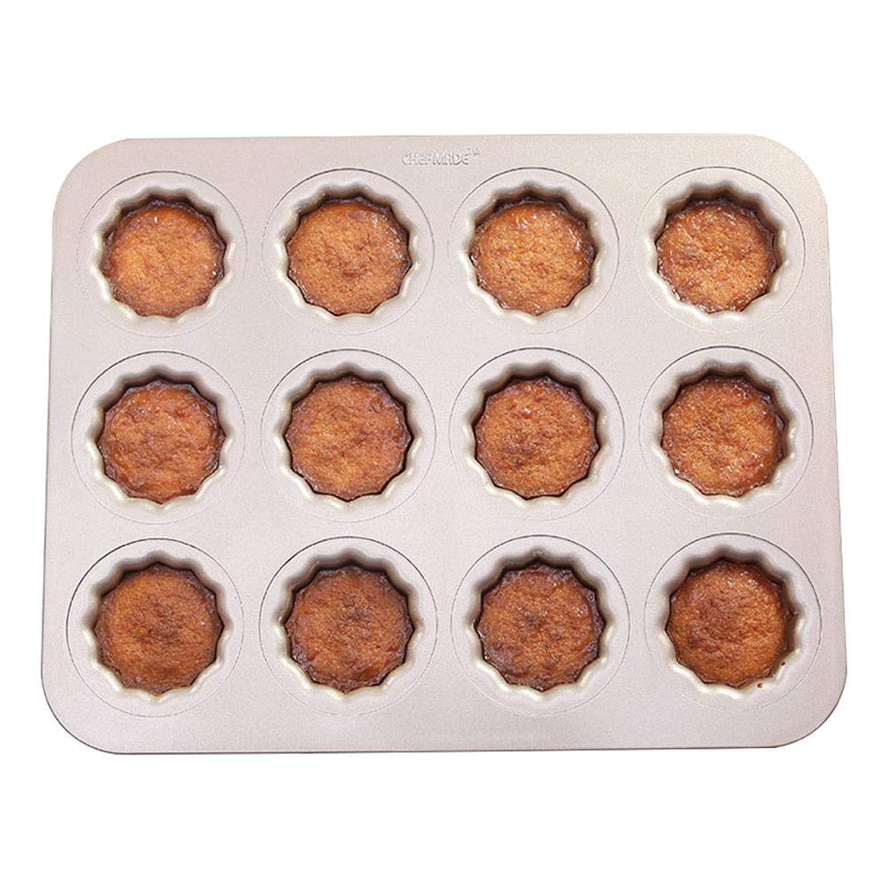 Thiningstar Carbon Steel Cupcake Mold Non Stick Cannele Pan 12 Cavity by Thiningstar (Image #6)