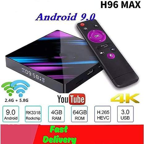 Smart TV Box, Android 9.0 Google Assistent 4K Dual-WiFi BT Multimedia-Player Netflix Play Store Gratuita aplicación rápida Dekodieren, Us2G+16G: Amazon.es: Deportes y aire libre
