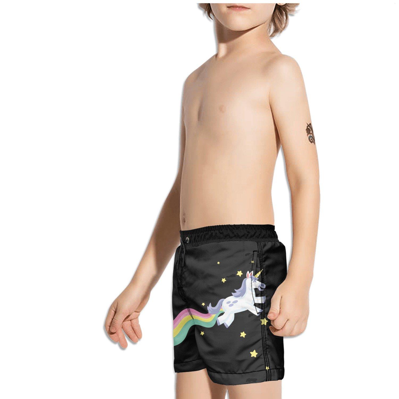 Ouxioaz Boys Swim Trunk Im Magical Unicorn in Rainbow Beach Board Shorts