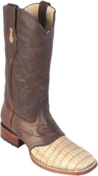 Genuine Crocodile Belly Cognac Snip Toe Los Altos Mens Western Cowboy Boot 194RCB57