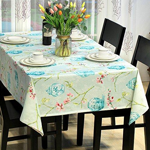Tabgw Nappe rectangulaire salle à manger drap de coton couverture en tissu Garden Hotel Cafe Restaurant Accessoires pour la maison Style minimaliste impression 135X135cm