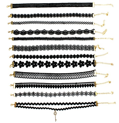 Syleia Embroidery Necklaces Geometric Adjustable