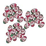 30 x Milk Chocolate Foiled Christmas Santa Balls 4g Each