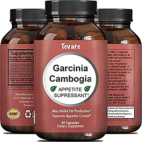 95% HCA Garcinia Cambogia Extract for Weight Loss - Pure Fat Burner Supplement for Men & Women Diet Pills Boost Metabolism Natural Appetite Suppressant Best Fast Acting Carb Blocker - Tevare