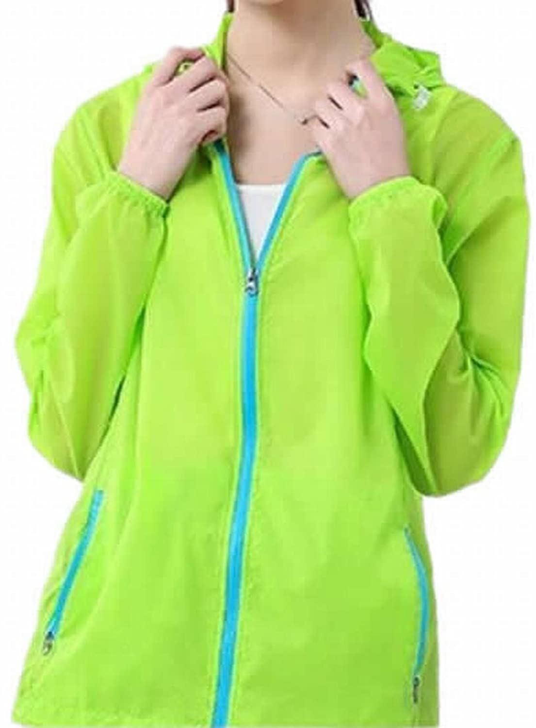 MLG Womens Transparent Sport Skin Hooded Sun Protection Coat