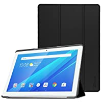 Generic Aboutthefit Lightweight Slim Shell Standing Cover with Auto Wake/Sleep Feature for Lenovo Tab 4, 10.1-inchX304 2017 Release (Black, 7800014)