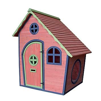 Airwave Childrens Painted Wooden Playhouse Kids Garden Outdoor Play