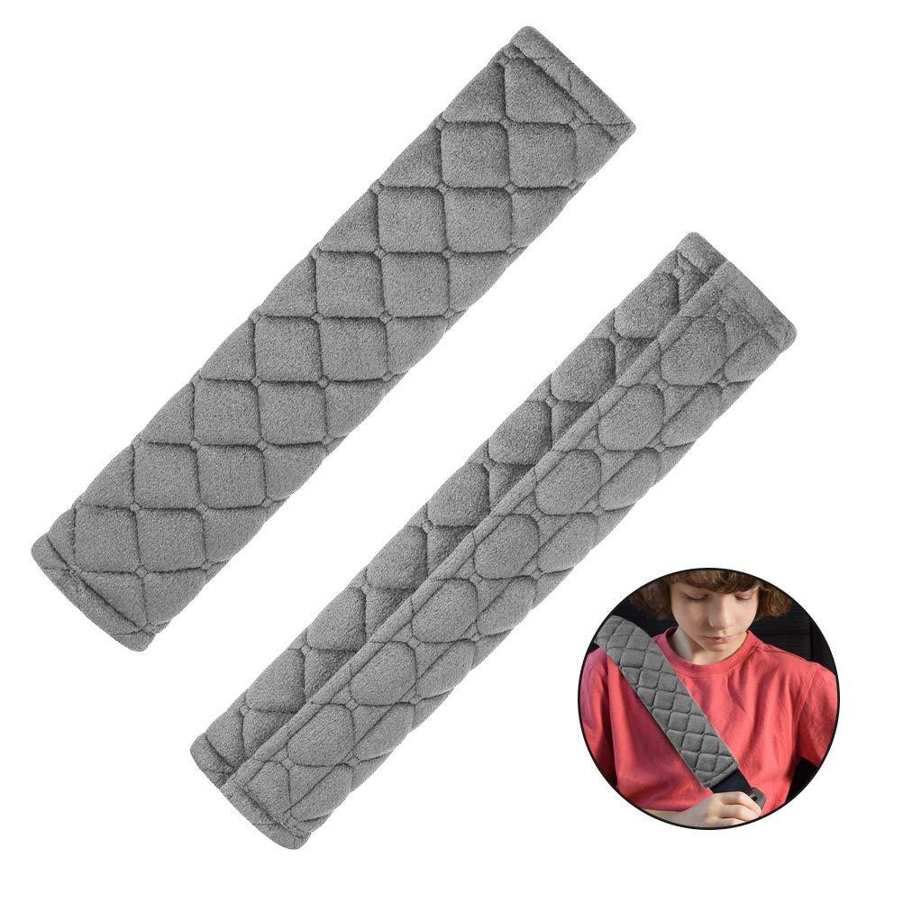 Imbottiture per cinture di sicurezza cuscino da viaggio confezione da 2 imbottiture per imbracatura con gancio e anello
