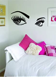 Girls Eyes And Eyebrows Version 2 Beautiful Design Decal Wall Vinyl Art  Sticker Girl Teen