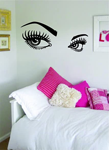 Girls Eyes And Eyebrows Version 2 Beautiful Design Decal Wall Vinyl Art Sticker  Girl Teen Part 21