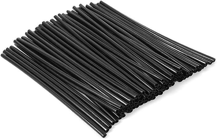 72 Stück Speichencover Speichen Skins Universal Speichenröhre Motocross Felgen Covers Länge 23 7 Cm Schwarz Auto