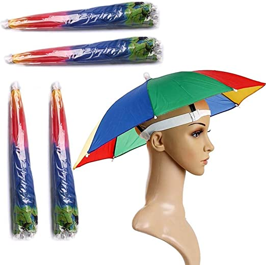 Details about  /Umbrella Hat Convenient Adult Unisex Kids Shade Camping Fishing Sun Cap Outdoor