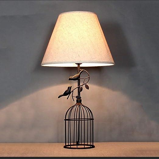 RBB Jaula de pájaros - Lámpara de Pared E27, Lámparas de Mesa de ...
