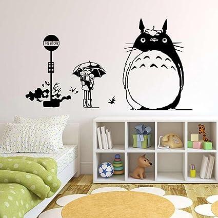 Great Wu0026M Totoro Wall Decor Decal Baby Kidu0027s Room Sticker Nursery Wall Art Decor  Mural (#