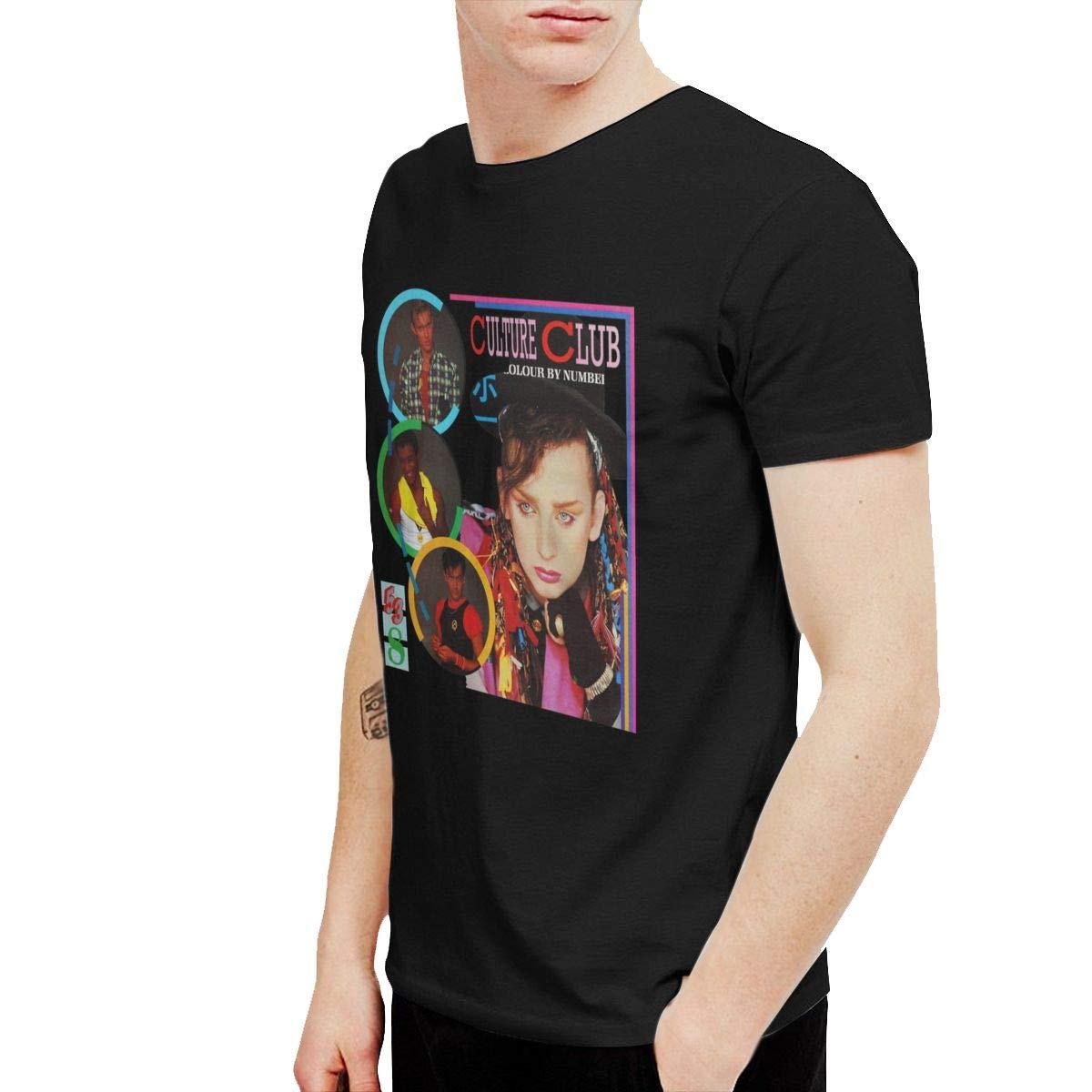 XLBSFJIWVD Culture Club Colour by Numbers Mens Short Sleeve T-Shirt Black