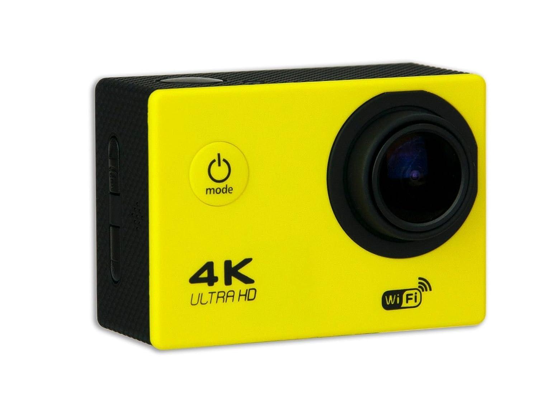 Amazon.com : 4K AMARILLA 30fps WIFI Alta Definicion Videocamara Resistente al Agua 16MP, 170 grados, Pantalla LCD de 2 pulgadas : Camera & Photo
