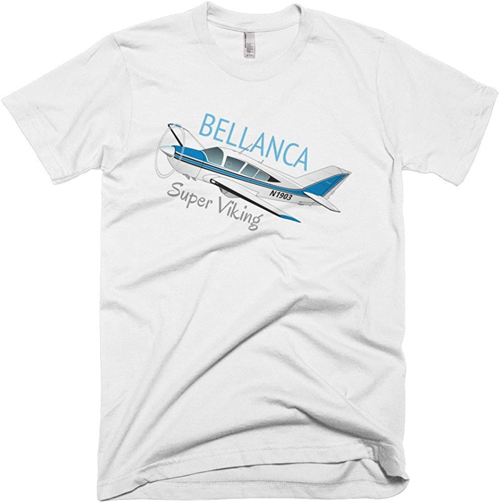 Custom Airplane T-Shirt Bellanca Super Viking Blue Personalized with N#