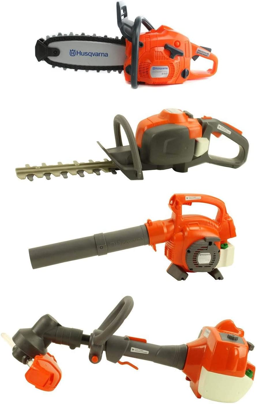 Husqvarna Kids Toy Play Set Chainsaw Hedge Trimmer Leaf Blower Weed Eater