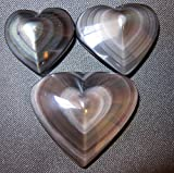 Satin Crystals Obsidian Rainbow Heart Premium