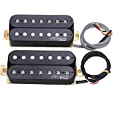 Wilkinson M Series WOH Classical Open Style Ceramic Humbucker Pickups Set for 7-String Electric Guitar, Black