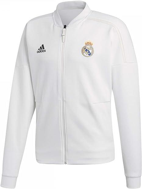 adidas 2018 2019 Real Madrid ZNE Anthem Jacket (White)