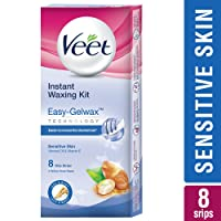 Veet Full Body Waxing Kit with Easy-Gelwax Technology for Sensitive Skin - 8 Strips