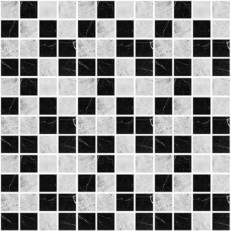 Globaldream Mosaique Carrelage Mural 30 Pieces Dalle Pvc Adhesive Murale Autocollants Carrelage Salle De Bains Et Cuisine Stickers Carrelage 10cm X 10cm Amazon Fr Cuisine Maison